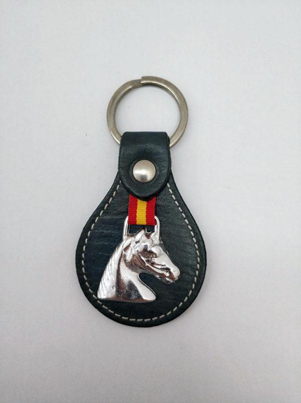 Llavero cabeza de caballo metal
